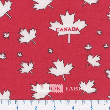 FLANNEL-CANADA-LEAF-RED