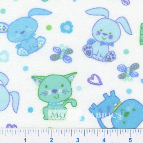 FLANNEL-SNUGGY-PRT-BUNNY-CAT-WHITE-TEAL